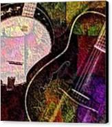 If Not For Color Digital Banjo And Guitar Art By Steven Langston Canvas Print by Steven Lebron Langston