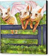 If Pigs Could Fly Canvas Print by Jane Schnetlage