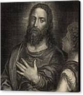 If Thou Be The Son Of God 1886 Engraving Canvas Print by Antique Engravings