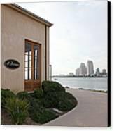 Il Fornaio Italian Restaurant In Coronado California Overlooking The San Diego Skyline 5d24364 Canvas Print