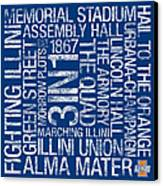 Illinois College Colors Subway Art Canvas Print by Replay Photos