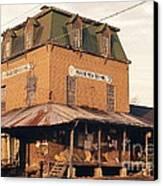 Illinois Feed Mill Canvas Print by Robert Birkenes