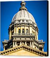Illinois State Capitol Dome In Springfield Illinois Canvas Print