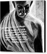 Illuminated Gandhi Canvas Print by Naresh Sukhu