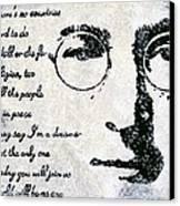 Imagine-john Lennon Canvas Print