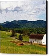 Impressionist Farming Canvas Print