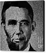 Impressionist Interpretation Of Lincoln Becoming Obama Canvas Print by Doc Braham