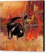 Impressionistic Bullfighting Canvas Print