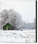 In A Sea Of White Canvas Print by Mike  Dawson