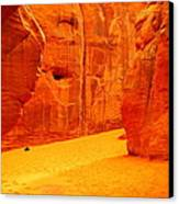 In Orange Chasms Canvas Print by Jeff Swan