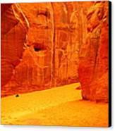 In Orange Chasms Canvas Print