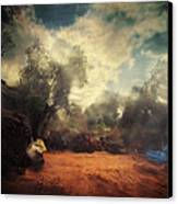 In The Begining Canvas Print by Taylan Apukovska