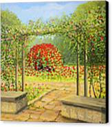 In The Rose Garden Canvas Print by Kiril Stanchev