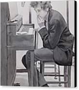 In The Studio Canvas Print by Robert Hooper