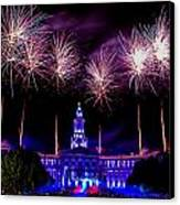 Independence Eve In Denver Colorado Canvas Print by Teri Virbickis