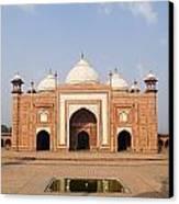 India, Next To Taj Mahal Agra, Taj Canvas Print
