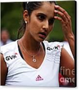 Indian Tennis Player Sania Mirza Canvas Print by Nishanth Gopinathan