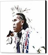 Indian Warrior Canvas Print by Robert Jensen