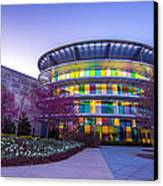 Indianapolis Museum Of Art Blue Hour Lights Canvas Print by David Haskett