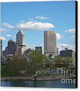 Indianapolis Skyline Blue 2 Canvas Print