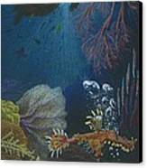 Indigenous Aquatic Creatures Of New Guinea Canvas Print by Beth Dennis