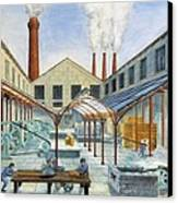 Industrial Revolution 19th C.. Factiry Canvas Print