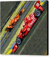 Indy Car's Tony Kanaan Canvas Print by Blake Richards