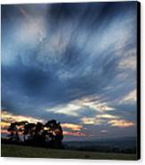 Inky Sunset Canvas Print