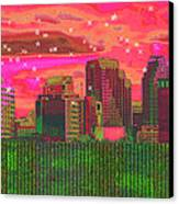 Inner City - Night Falls Canvas Print by Wendy J St Christopher