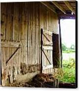 Inside An Indiana Barn Canvas Print by Julie Dant