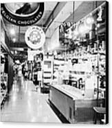 inside lonsdale quay market shopping mall north Vancouver BC Canada Canvas Print by Joe Fox