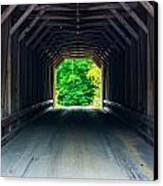 Inside The Covered Bridge Canvas Print by Jason Brow