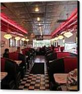 Inside The Diner Canvas Print by Randall Weidner