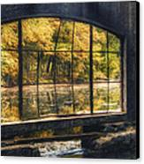 Inside The Old Spring House Canvas Print by Scott Norris