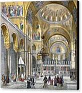 Interior Of San Marco Basilica, Looking Canvas Print by Italian School