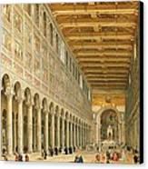 Interior Of San Paolo Fuori Le Mura Canvas Print