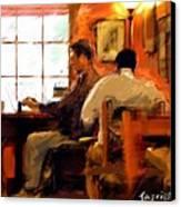 Internet Coffee House Canvas Print