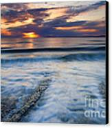 Into The Sea Canvas Print by Mike  Dawson