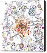 Intracellular Diversion Canvas Print