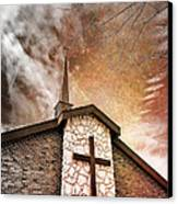 Intrepid Faith Canvas Print by Bill Tiepelman