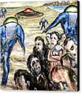 Invasion Canvas Print by Arthur Robins