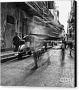 Invisible Rickshaw Puller Canvas Print