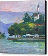 Ioannina Lake Canvas Print by George Siaba