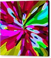 Iphone Cases Colorful Flowers Abstract Roses Gardenias Tiger Lily Florals Carole Spandau Cbs Art 179 Canvas Print by Carole Spandau
