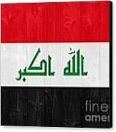 Iraq Flag Canvas Print by Luis Alvarenga