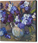 Irises Canvas Print by Diane McClary