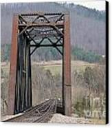 Iron Bridge Canvas Print by Brenda Dorman