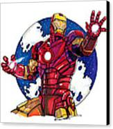 Iron Man Canvas Print by Dave Olsen
