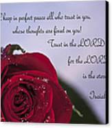 Isaiah 26 3 4 Canvas Print