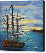 Isla Vaca At Sunset Canvas Print